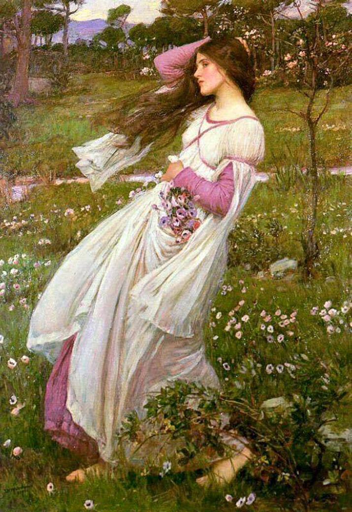 girl-gather-flowers-wind
